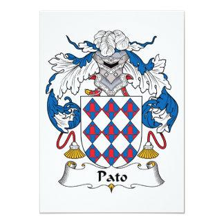 Pato Family Crest 5x7 Paper Invitation Card