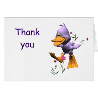 Pato feliz tarjeta de felicitación