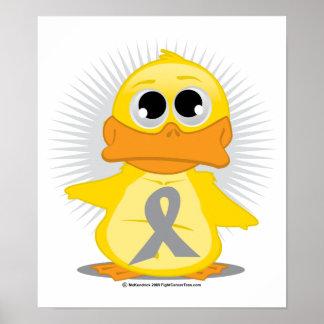 Pato gris/de plata de la cinta póster