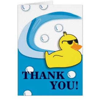 Pato jabonoso - gracias cardar tarjeta de felicitación