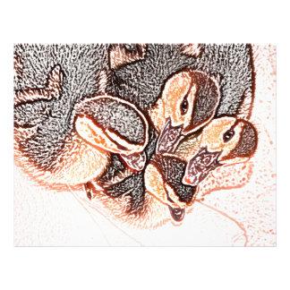 pato lindo del bebé del bosquejo de los anadones tarjetas publicitarias