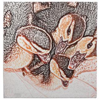 pato lindo del bebé del bosquejo de los anadones servilleta de papel
