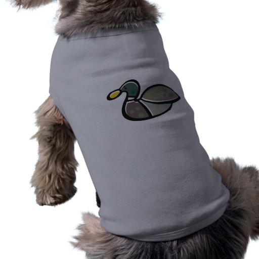 Pato liso playera sin mangas para perro