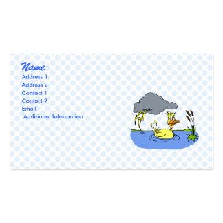 Pato mareado tarjetas de visita