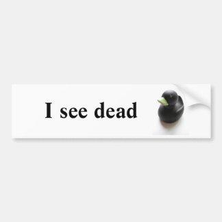 Pato muerto pegatina para auto