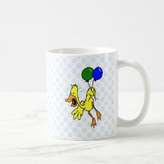 Pato narcotizado taza de café