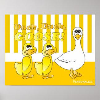 Pato, pato, tema del cuarto de niños del ganso póster