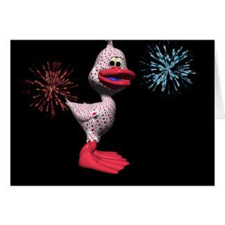 Pato patriótico tarjeta de felicitación