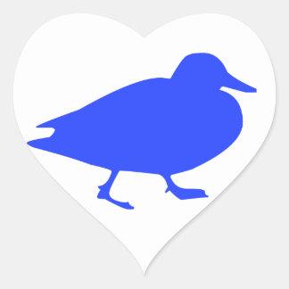 Pato Pegatina En Forma De Corazón