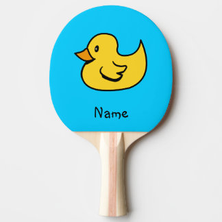 Pato personalizado del dibujo animado pala de tenis de mesa