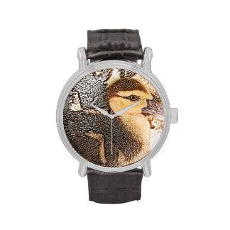 pato principal del bebé del diseño del pájaro del relojes de mano