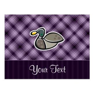 Pato púrpura tarjeta postal