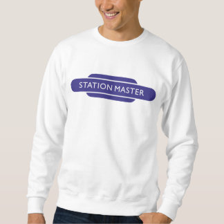 Pato que camina azul ferroviario del amo de pulover sudadera