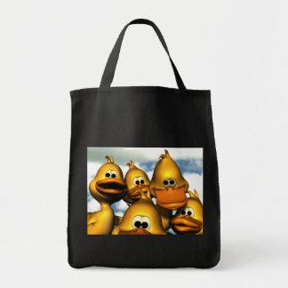 Pato que recolecta el bolso bolsa