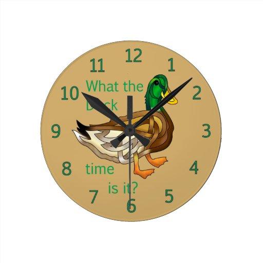 Pato Reloj Redondo Mediano