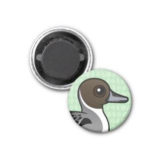 Pato rojizo septentrional de Birdorable Imán Redondo 3 Cm