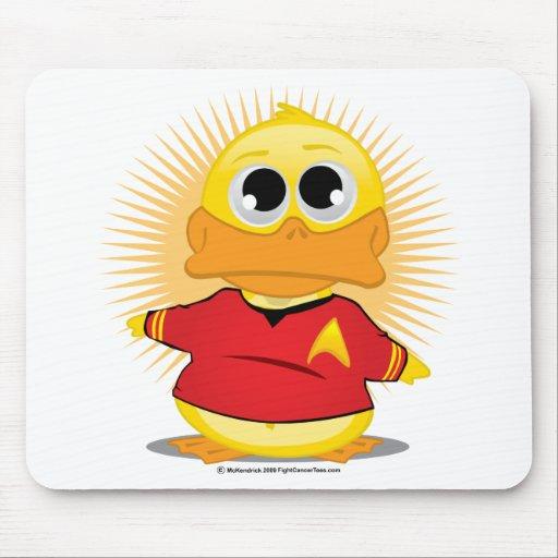Pato rojo de la camisa del ST Alfombrillas De Raton