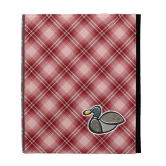 Pato rojo de la tela escocesa