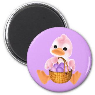 Pato rosado de Pascua Imán Redondo 5 Cm