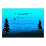 Pato RSVP que se casa azul de la montaña de la Invitación 8,9 X 12,7 Cm
