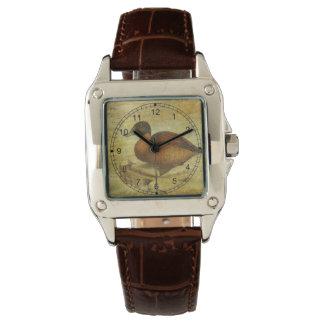 Pato rubicundo reloj de mano