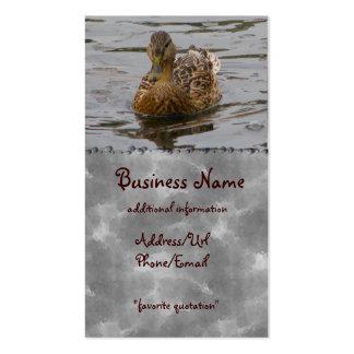 Pato silvestre femenino tarjetas de visita