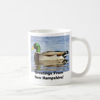 ¡Pato silvestre, saludos de New Hampshire! Taza Clásica
