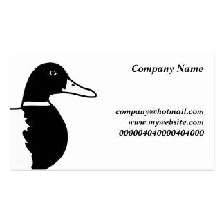 Pato silvestre, plantilla de tarjeta de visita