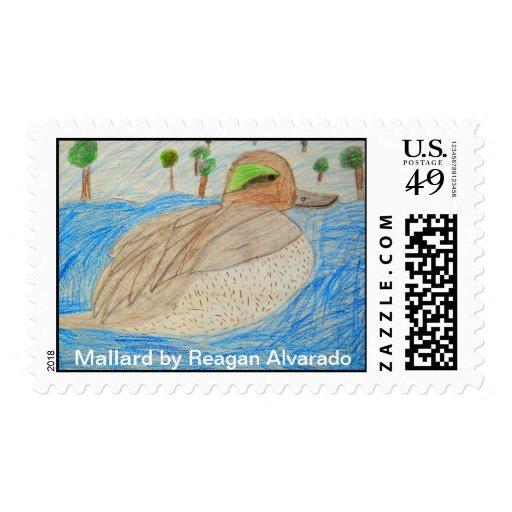 Pato silvestre timbres postales
