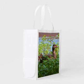 Pato silvestre y anadones bolsa para la compra