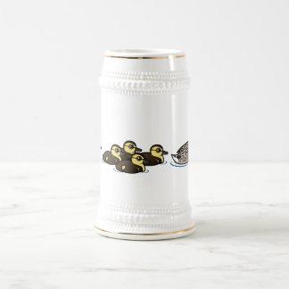 Pato silvestre y cinco anadones jarra de cerveza