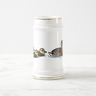 Pato silvestre y cuatro anadones jarra de cerveza