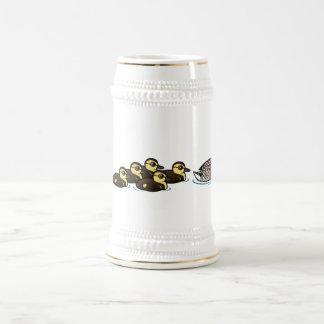 Pato silvestre y siete anadones jarra de cerveza