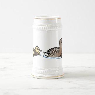 Pato silvestre y tres anadones jarra de cerveza