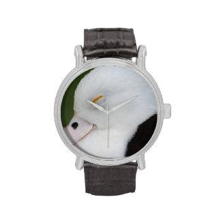 Pato soñoliento relojes de pulsera
