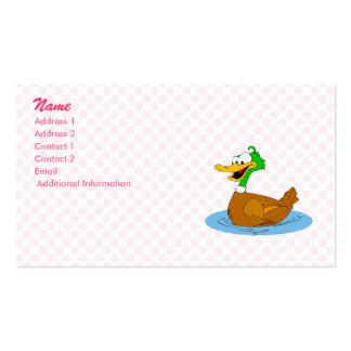 Pato sórdido plantillas de tarjetas personales