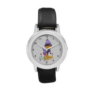 Pato tímido reloj de mano