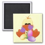 Pato, tulipanes, y camisetas y regalos de los huev imán para frigorifico