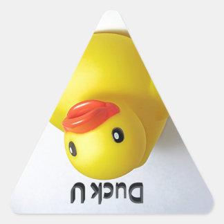 Pato U Pegatina Triangular