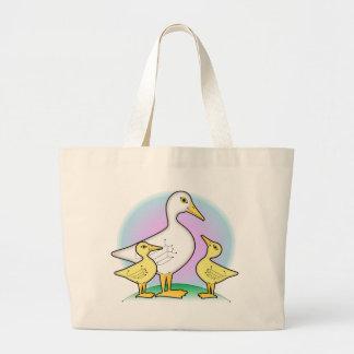 pato y anadones bolsa tela grande