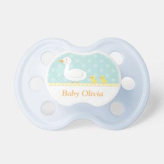 Pato y anadones lindos elegantes para los bebés chupetes para bebes