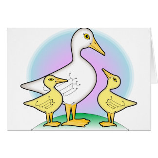 pato y anadones tarjeta de felicitación