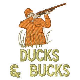 Pato y cazador del juego y de los ciervos de los d