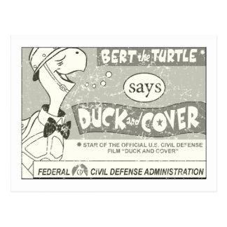 Pato y cubierta - apenados postal
