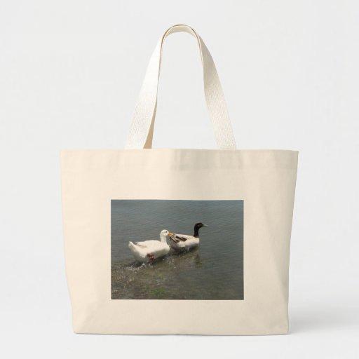 Pato y ganso bolsa tela grande