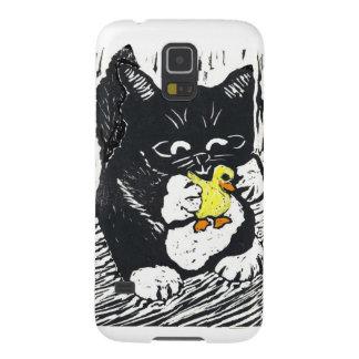 Pato y gatito de goma carcasa de galaxy s5
