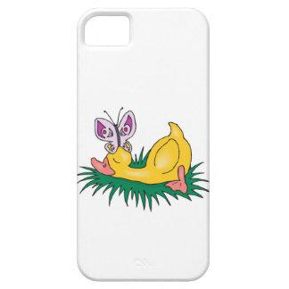 pato y mariposa lindos el dormir iPhone 5 Case-Mate carcasas