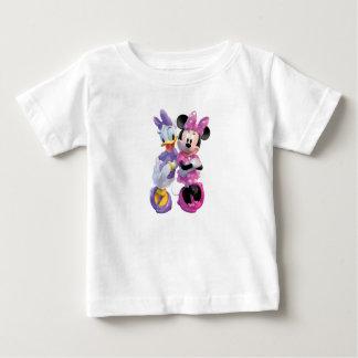 Pato y Minnie de la margarita que se inclinan cara Tshirt