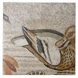 Pato y pájaro, mosaico del Nilo, casa del fauno Azulejo Cuadrado Grande