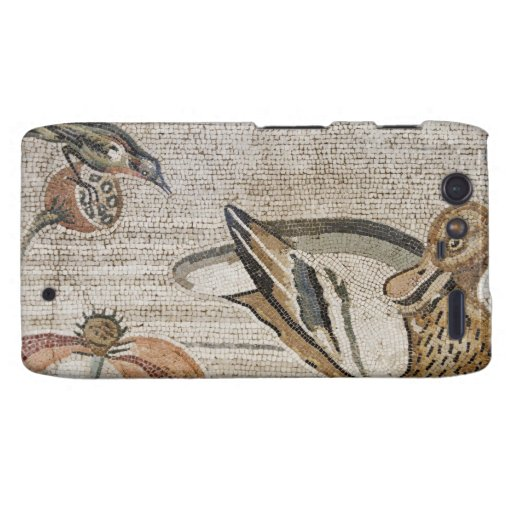 Pato y pájaro, mosaico del Nilo, casa del fauno Funda Para Motorola Droid RAZR